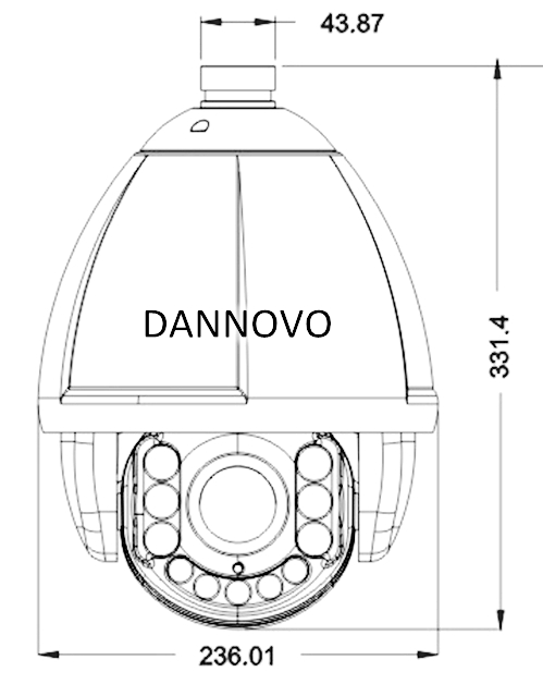 dannovo outdoor 150m ir ptz high speed dome camera 18x 23x 30x 37x samsung27x optical zoom